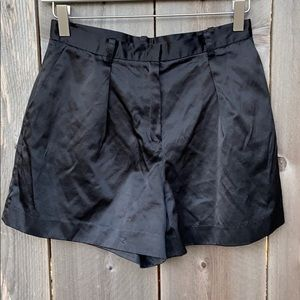 Kate Young For Target Black Satin Shorts